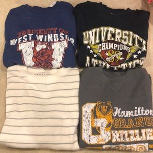 Lot of long sleeve waffle knit shirts - NWOT